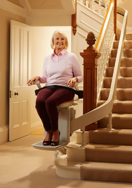 Curved stairlifts for sale Dunkinfield